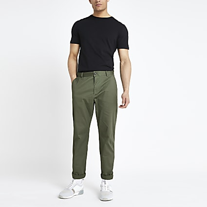 Selected Homme khaki tapered trousers