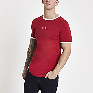 "Rotes Muscle Fit T-Shirt ""Prolific"""