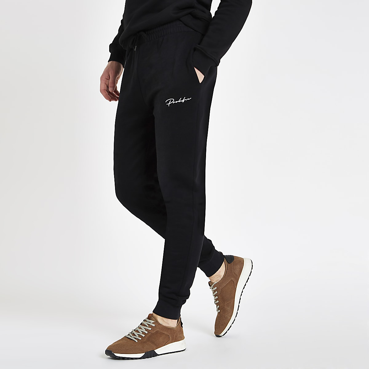 Black muscle fit Prolific joggers