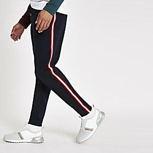 R96 – Marineblaue Slim Fit Jogginghose