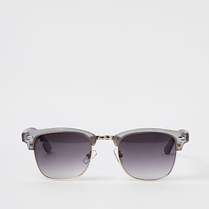 cb18eb303036 Jeepers Peepers grey retro frame sunglasses - Aviator Sunglasses ...