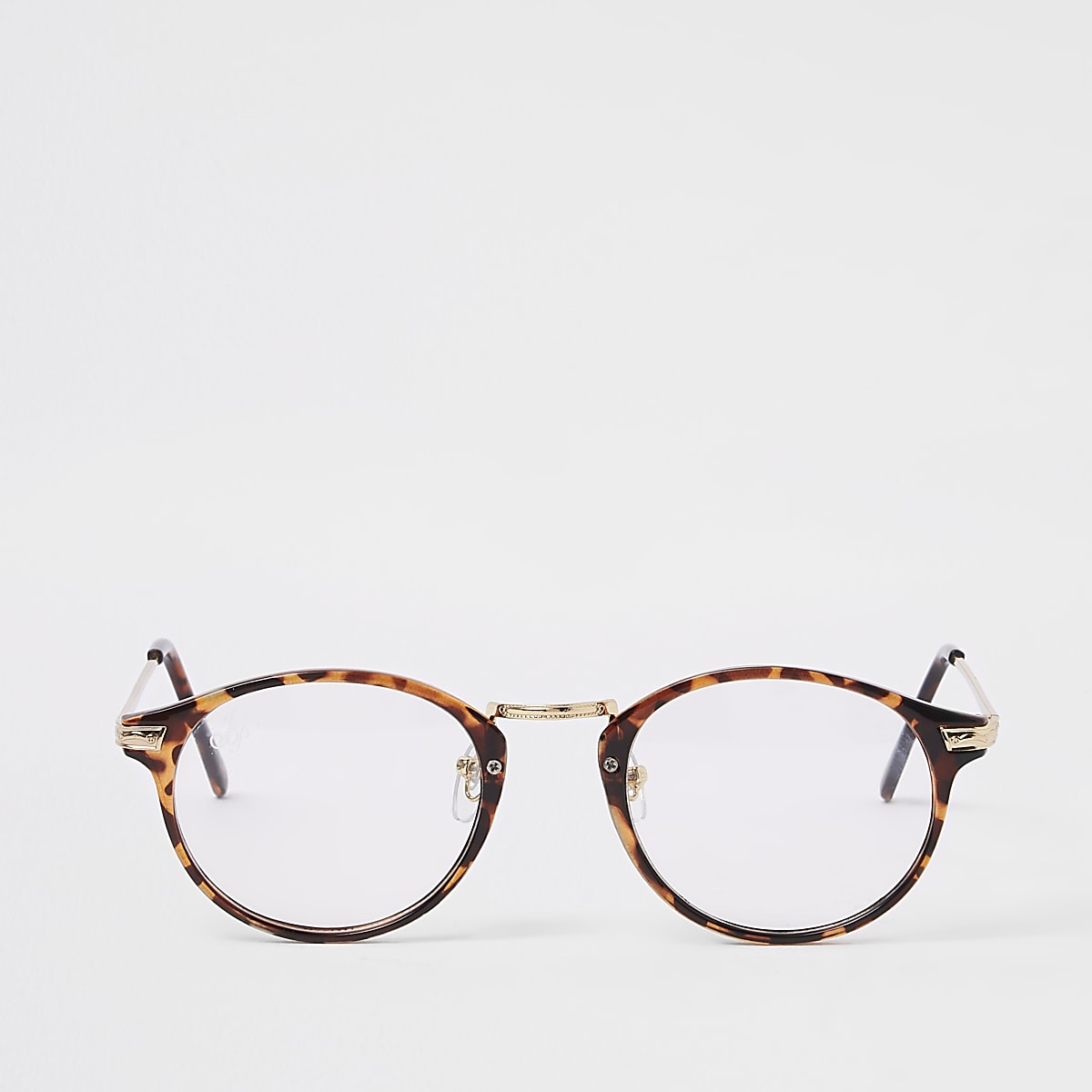 b5735b90a74155 Jeepers Peepers - Bruine tortoise bril met heldere glazen - Ronde ...