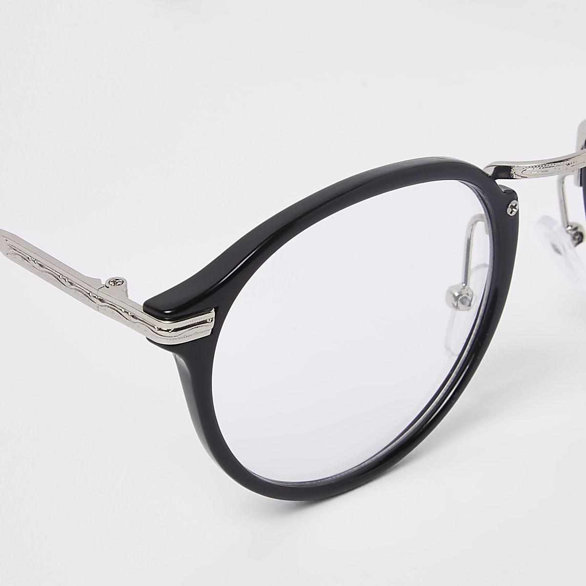 273263d1231872 Jeepers Peepers - Zwarte bril met heldere glazen - Ronde ...