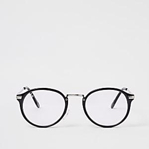 Jeepers Peepers - Zwarte bril met heldere glazen