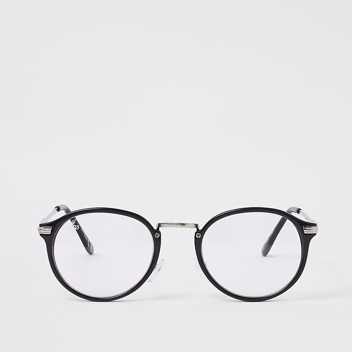 Jeepers Peepers black clear lens glasses