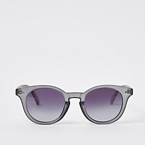 Jeepers Peepers - Grijze preppy ronde zonnebril