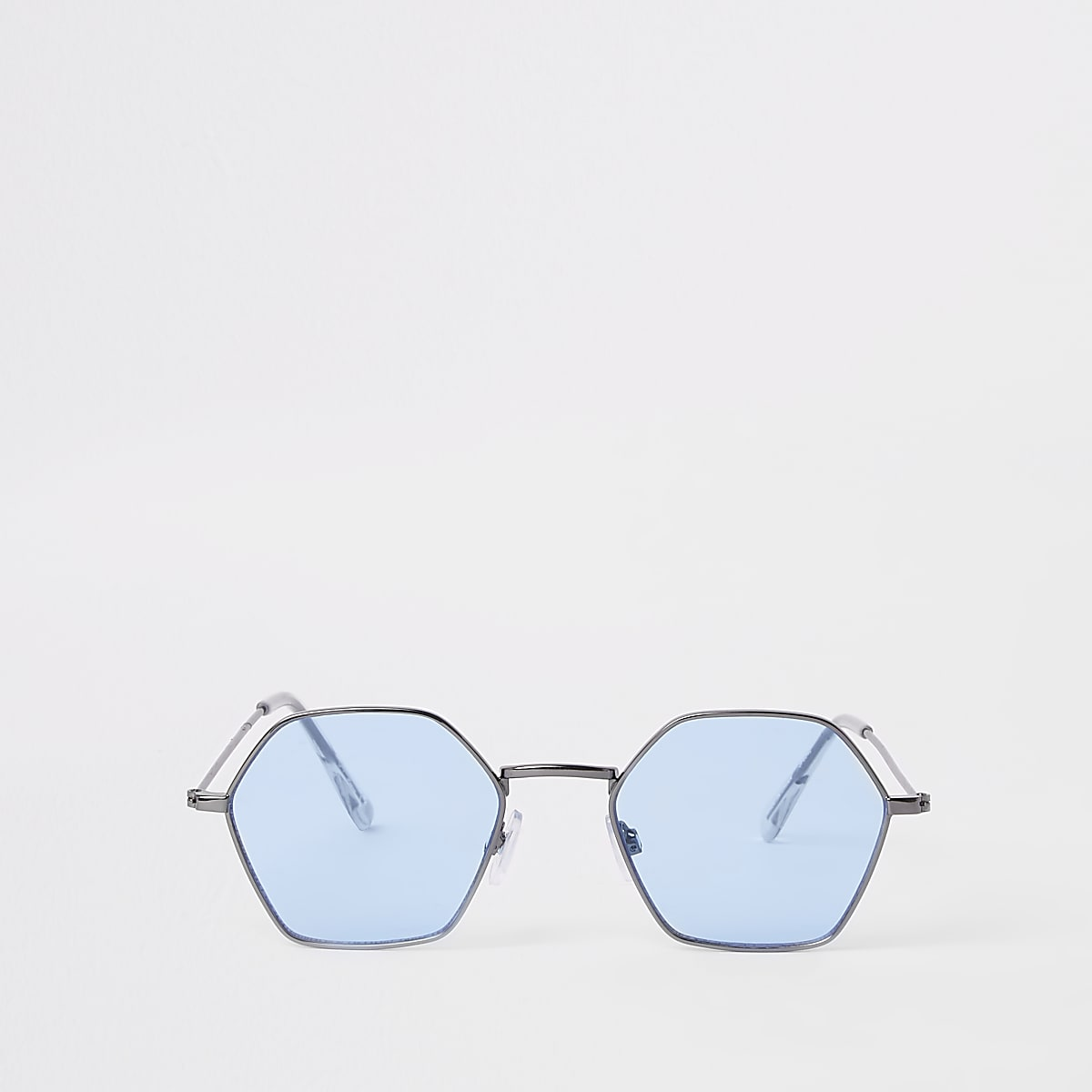 Jeepers Peepers grey blue lens hex sunglasses