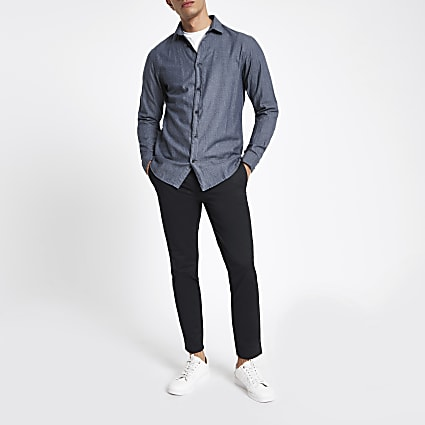 Selected Homme dark blue regular fit shirt