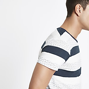 Selected Homme organic cotton stripe T-shirt