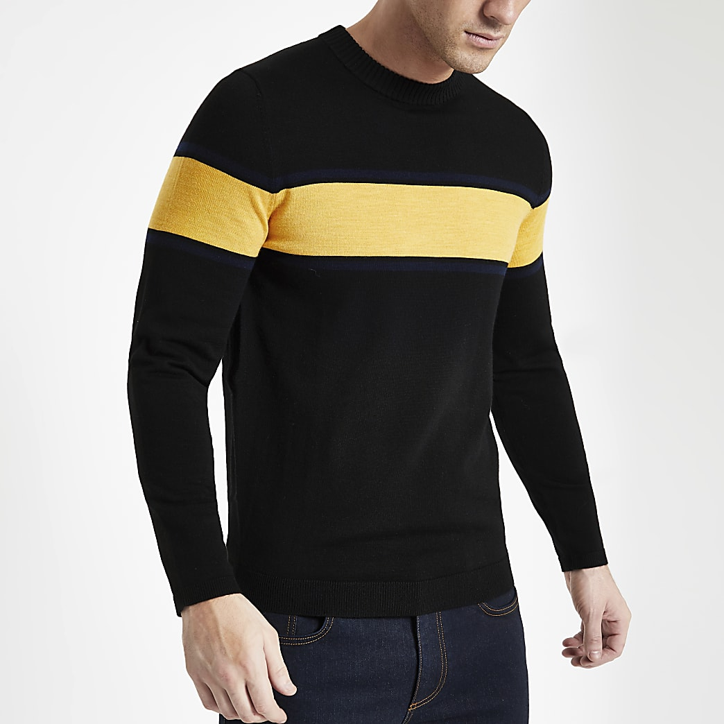 Selected Homme black stripe long sleeve top