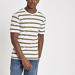 Selected Homme - Gestreept T-shirt van biologisch katoen