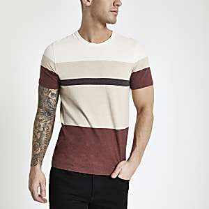 Selected Homme red organic cotton T-shirt