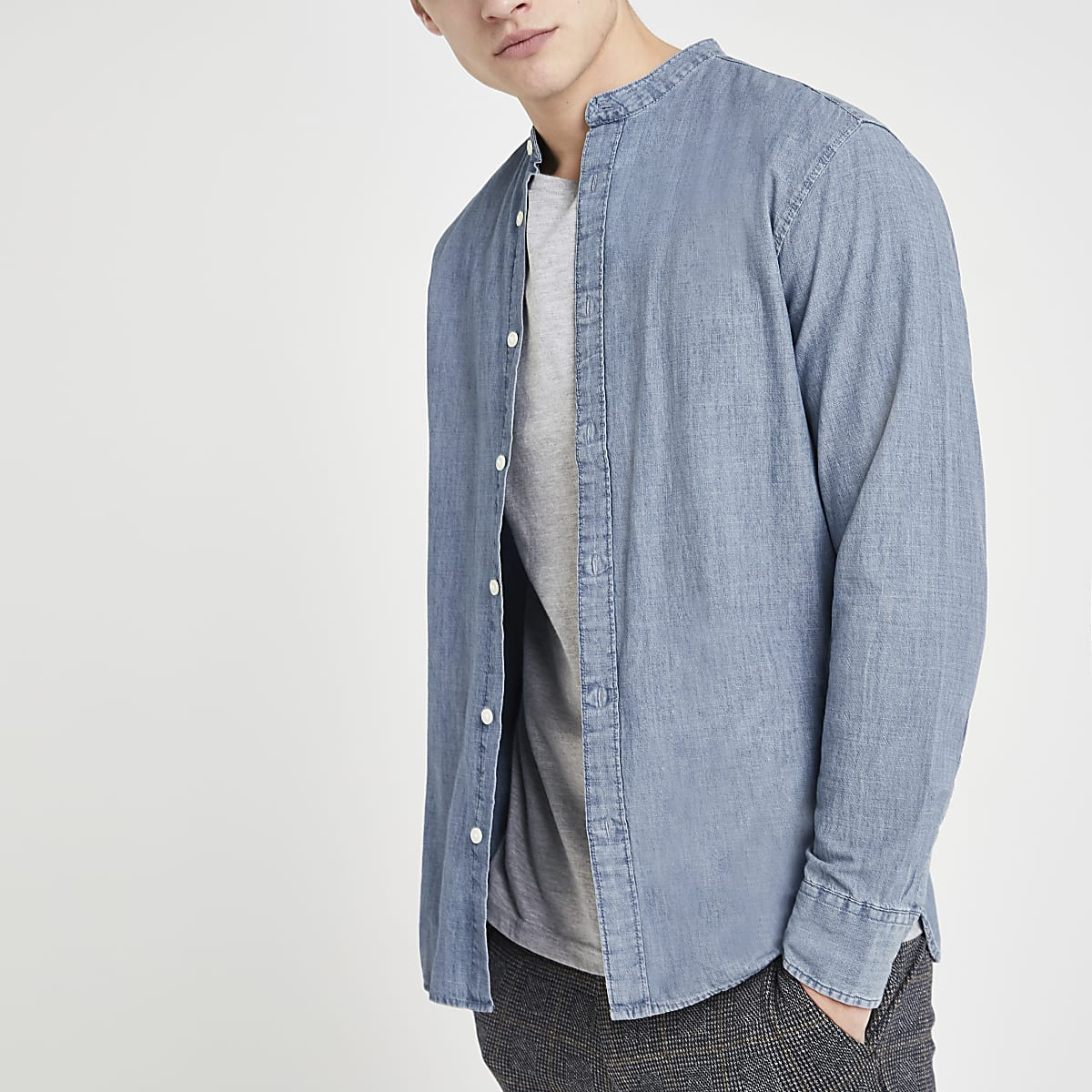 Selected Homme – Chemise manches longues bleue