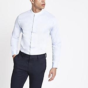 Selected Homme – Blaues Hemd aus Bio-Baumwolle