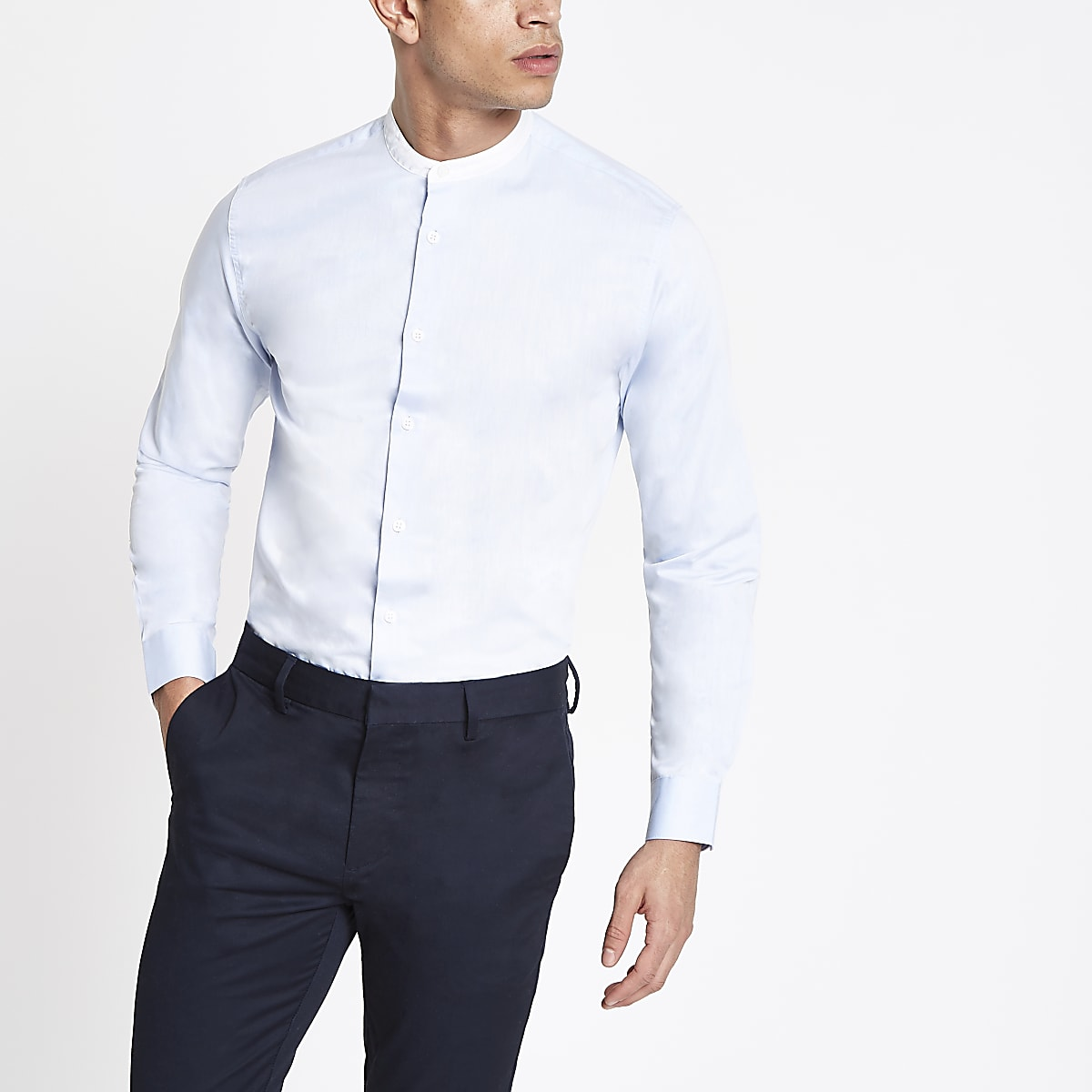 Selected Homme blue long sleeve regular shirt
