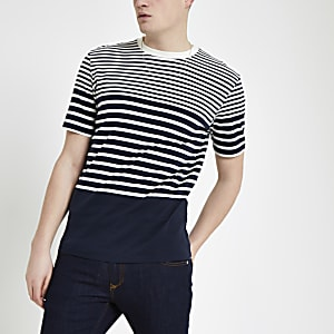 Selected Homme navy stripe T-shirt