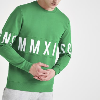 Only & Sons green printed sweatshirt