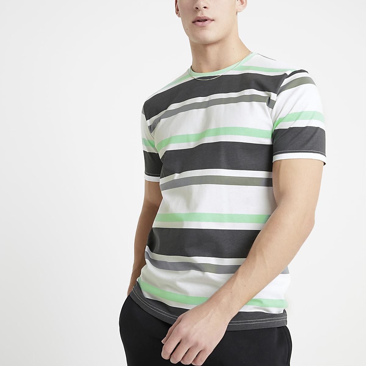 Only & Sons - Zwart gestreept T-shirt