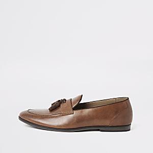 fc0bf42b5f5 Tan tassel loafers