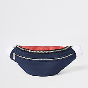 Sac à bandoulière «Prolific» bleu marine à deux zips