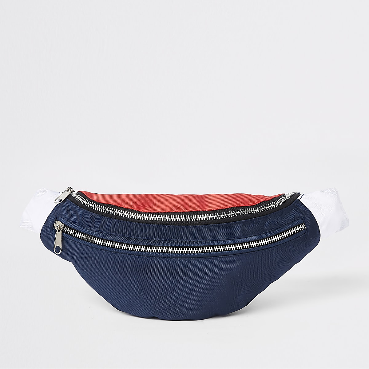 Sac à bandoulière Prolific bleu marine à deux zips