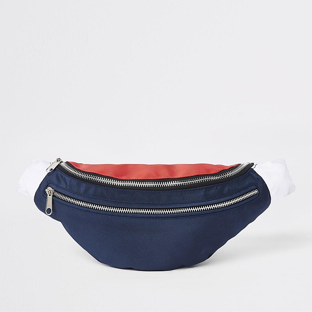 Navy Prolific double zip cross body bag