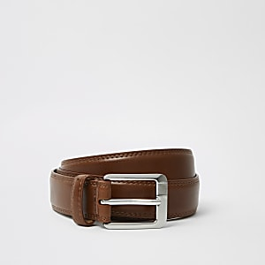 Big and Tall brown buckle belt