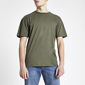 Green oversized short sleeve T-shirt