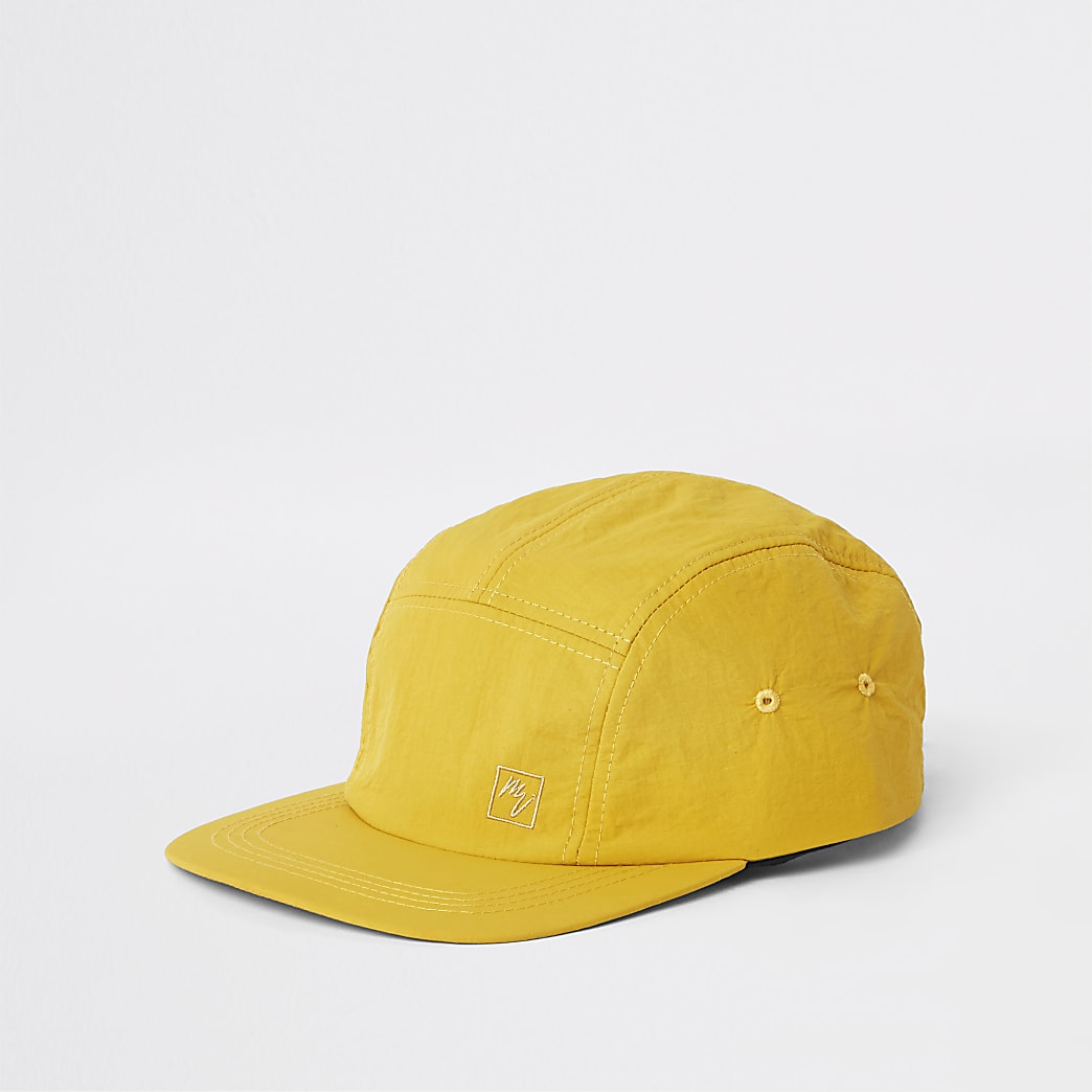 Yellow Maison Riviera five panel cap