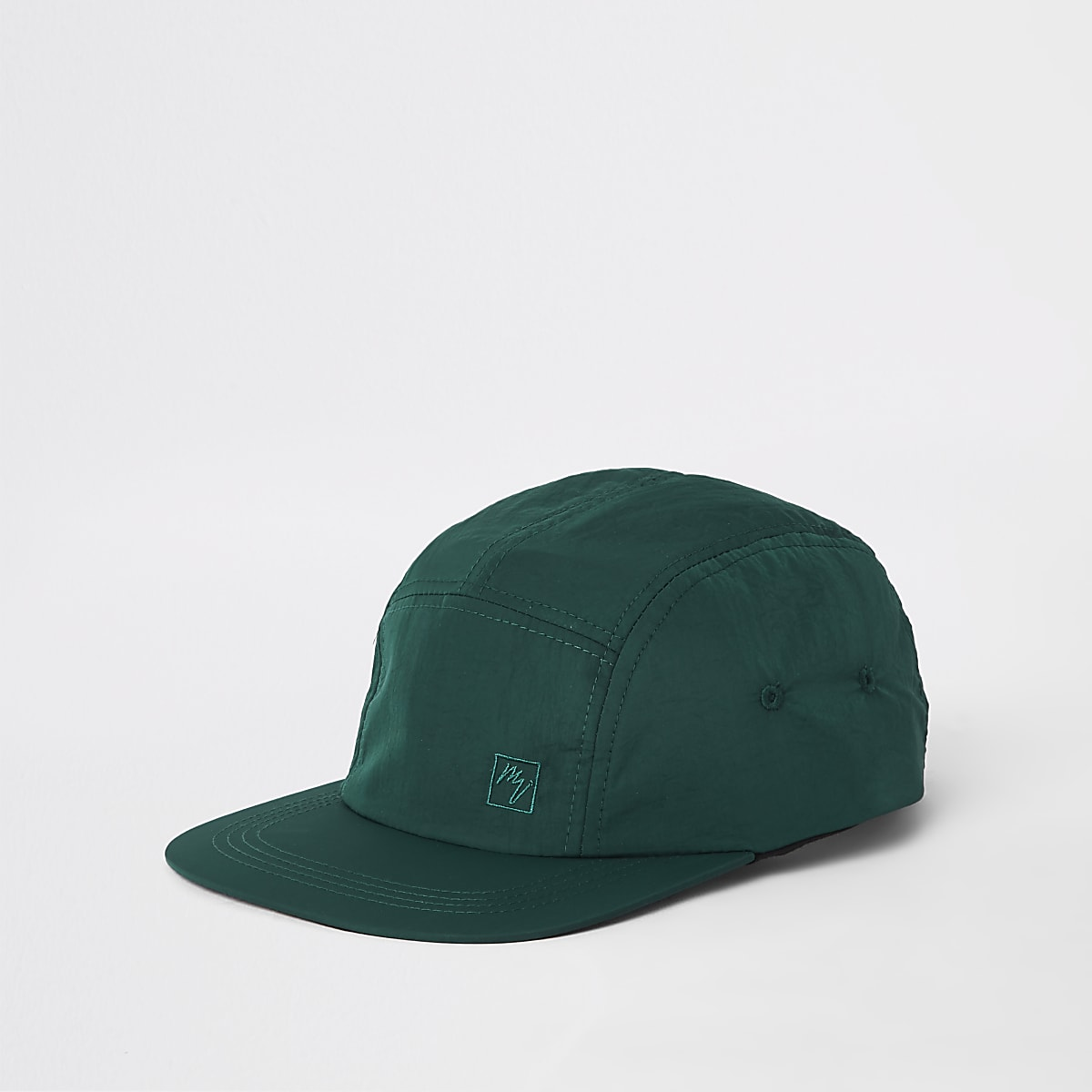 Green Maison Riviera five panel cap