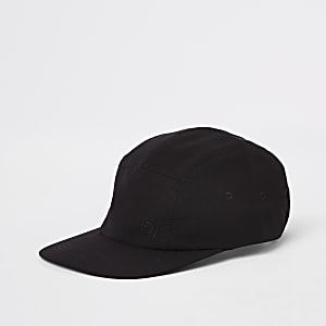Black Maison Riviera five panel cap