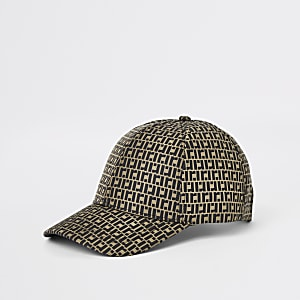 57ecd3761e074 Brown RI monogram baseball cap