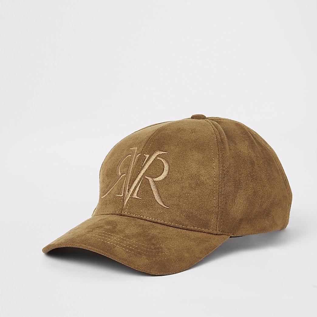 Casquette «RVR» en suédine marron
