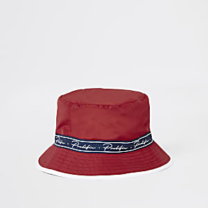 Red 'Prolific' taped bucket hat