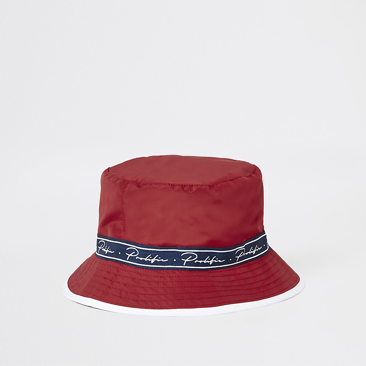 Red Prolific taped bucket hat