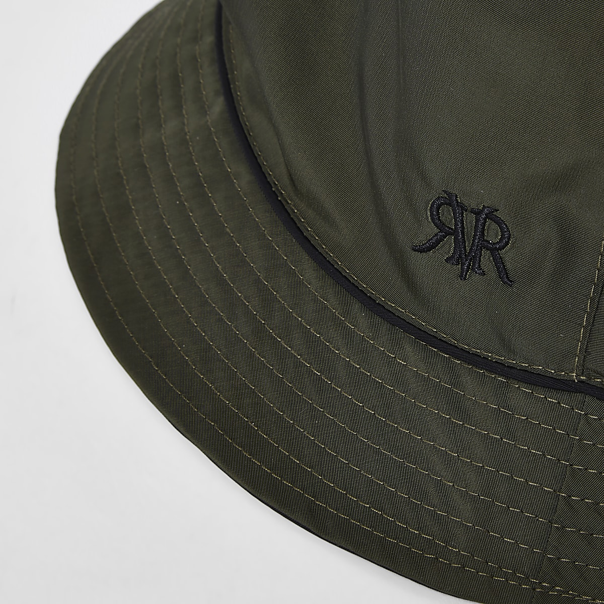 15d755016 Khaki piped reversible bucket hat