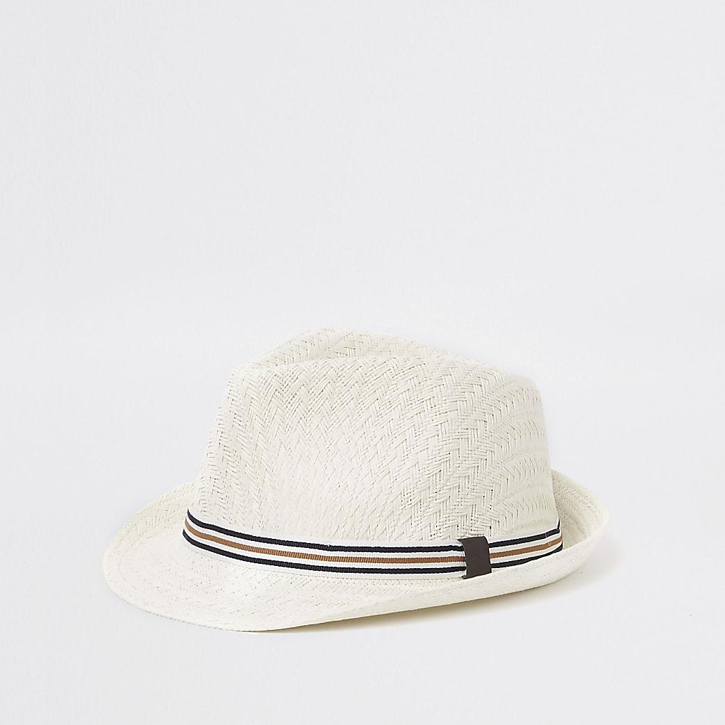 Chapeau de paille écru