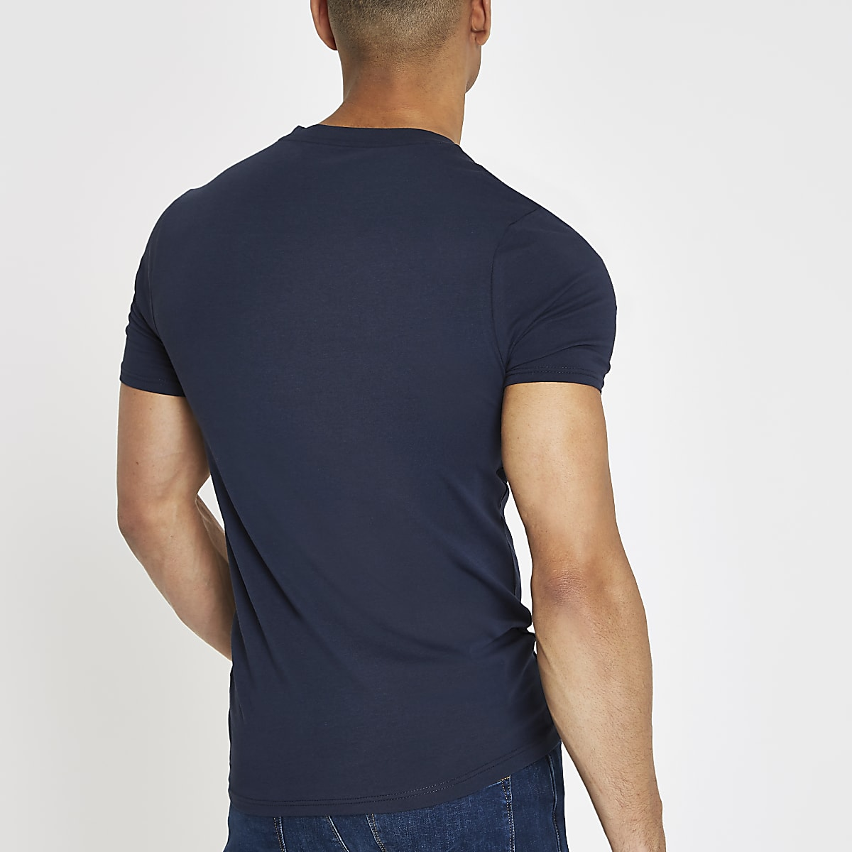 7893908e8ae6 Navy muscle fit V neck T-shirt 5 pack - T-shirts - T-Shirts & Vests ...