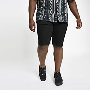 Big and Tall - Zwarte skinny-fit short