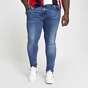 Big and Tall – Ollie – Jean seconde peau bleu moyen