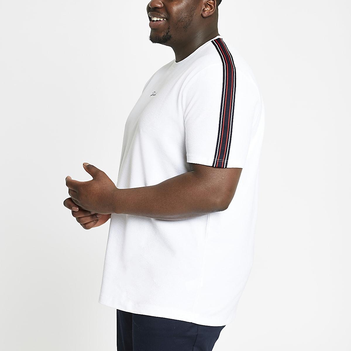 Big and Tall – T-shirt à inscription « Prolific » blanc