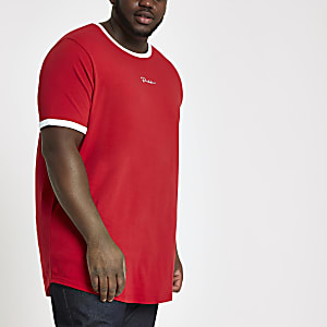 Big & Tall - Curve - 'Prolific' T-shirt in rood
