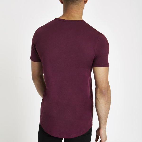 River Island - t-shirt long  à ourlet - 4