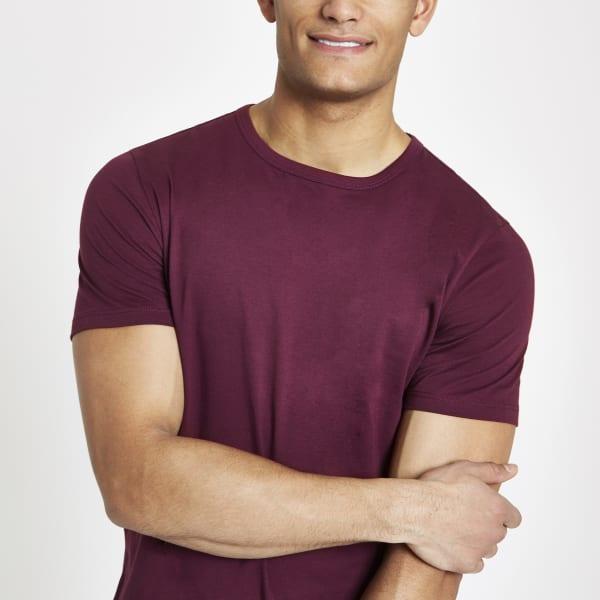 River Island - t-shirt long  à ourlet - 3