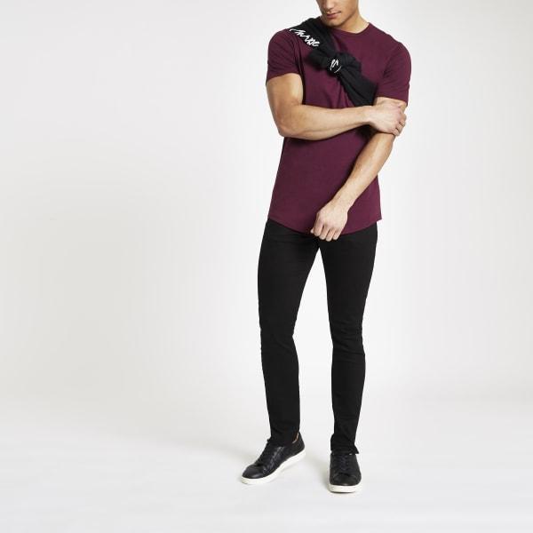 River Island - t-shirt long  à ourlet - 2