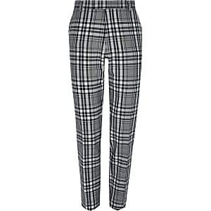 Big and Tall grey plaid smart pants