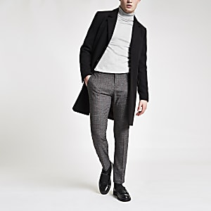 Dark grey stripe super skinny smart pants