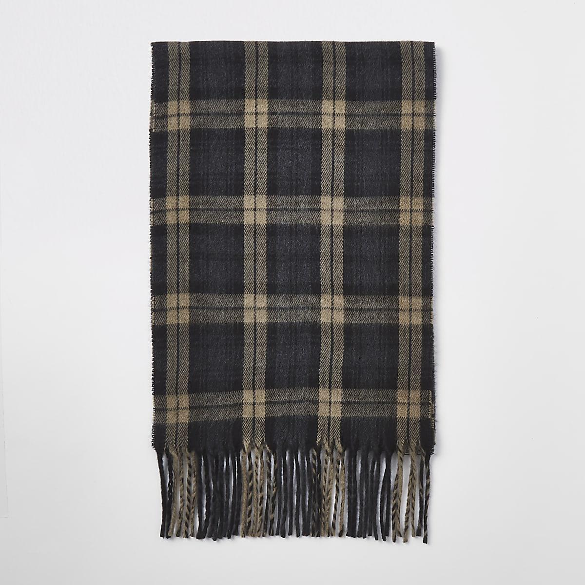 Black check scarf