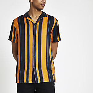 Yellow stripe short sleeve shirt