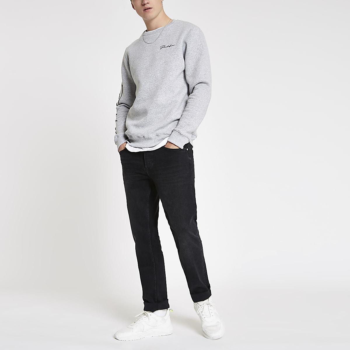 Dean – Schwarze Straight Leg Jeans